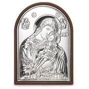 Clarte Icon - Holy Virgin Mary Kissing Lovingly 5.5cm