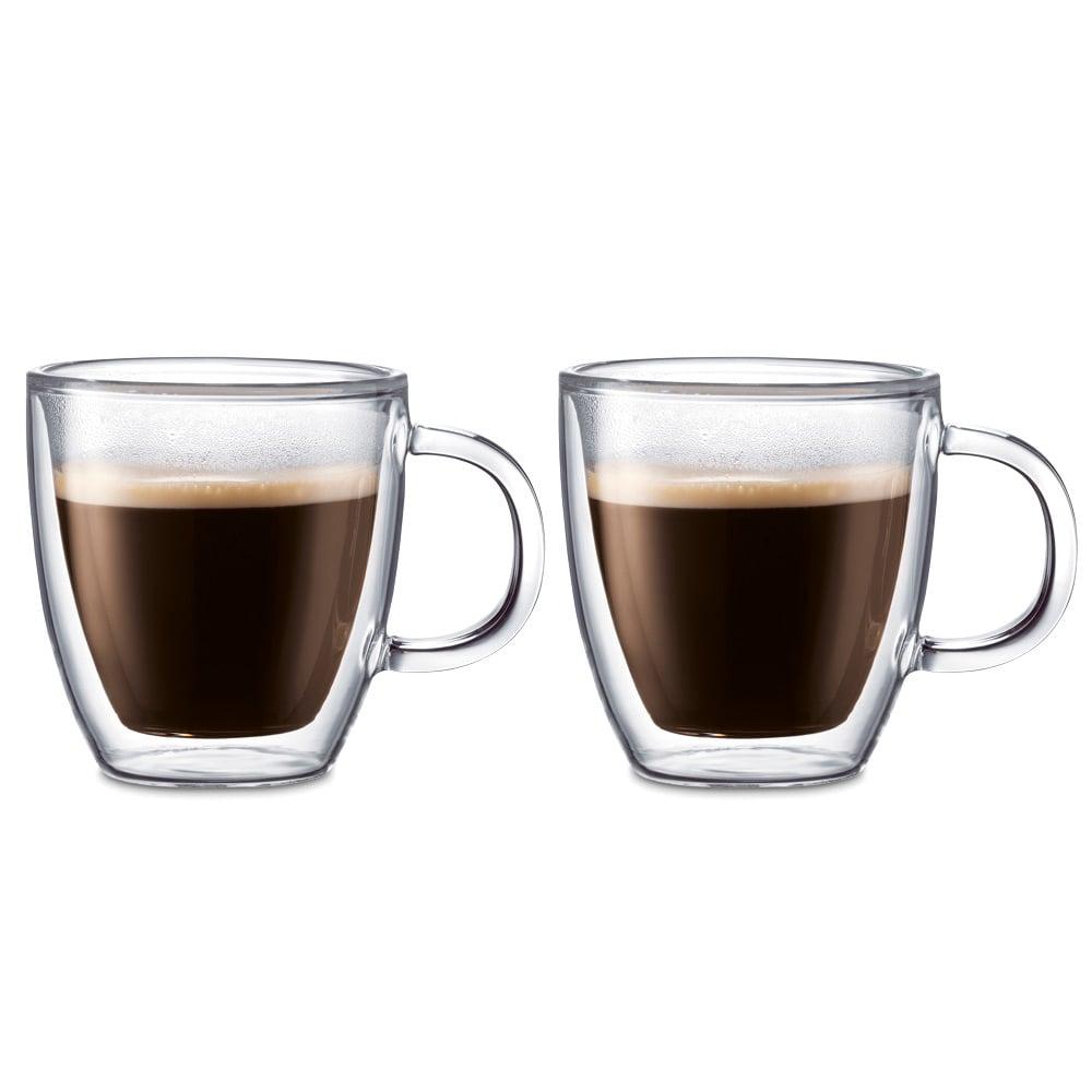 bodum bistro double walled espresso mug set 2pce peter 39 s of kensington. Black Bedroom Furniture Sets. Home Design Ideas