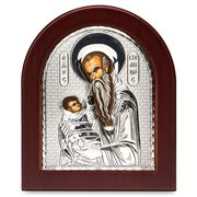 Clarte Icon - Silver Axion St Stylianos 13x11cm