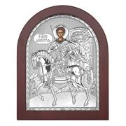 Clarte Icon - St Demetrios in Wooden Frame 25x20cm