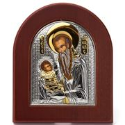 Clarte Icon - Silver Axion St Stylianos w/Gold Accents Large