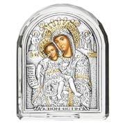 Clarte Icon - Axion Esti Holy Virgin Mary Crystal Frame