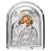Clarte Icon - Holy Virgin Mary Kissing Loving Crystal Frame