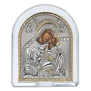 Clarte Icon - HV Mary Kissing Lovingly in Crystal 10x12cm