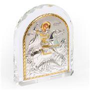 Clarte Icon - St George Gold 10.5x12.5cm