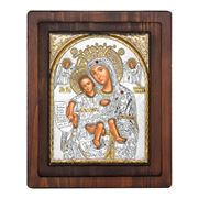 Clarte Icon - Axion Esti HV Mary in Gold Wall Plaque 17x20cm