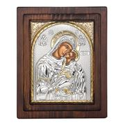 Clarte Icon - HV Mary Kissing in Gold Wall Plaque 17x20cm