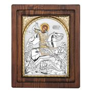 Clarte Icon - St George in Gold Wall Plaque 17x20cm