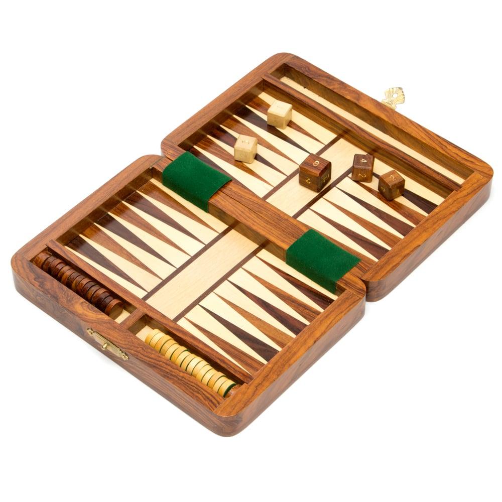 Italfama - Wooden Magnetic Travel Backgammon Set