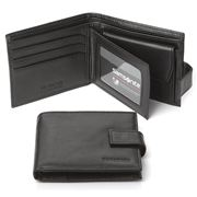 Samsonite - Business Leather Wallet with Coin Purse Black