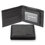 Samsonite - Business Leather Wallet with Card Flap Black