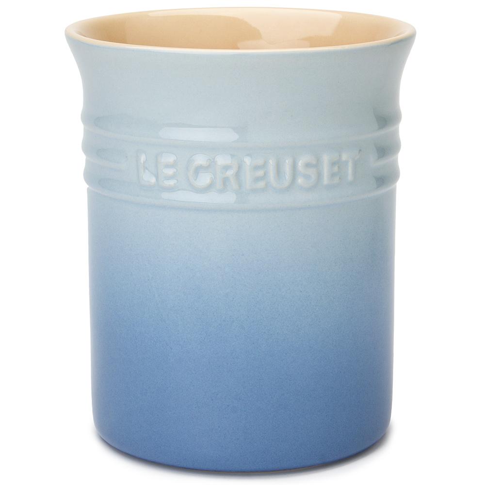 Le Creuset Coastal Blue Stoneware Utensil Jar Peter S