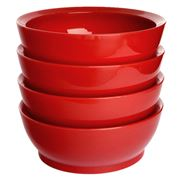 Calibowl - Fire Truck Red Non-Spill Bowl 4pce Set 17cm