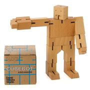 Cubebot - Medium Natural Beechwood Cubebot