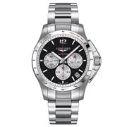 Longines - Conquest Blk & Silver Dial S/Steel Chronograph