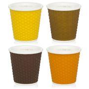 Les Artistes - Espresso Cup Soft Colours Set 4pce