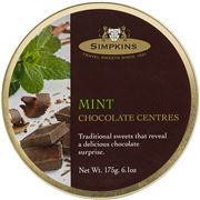 Simpkins - Mint Chocolate Centres Travel Sweets 175g