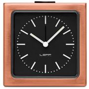 Leff - Block Copper Black Index Alarm Clock