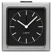 Leff - Block Stainless Steel Black Index Alarm Clock