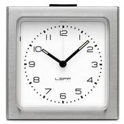 Leff - Block Stainless Steel White Alarm Clock