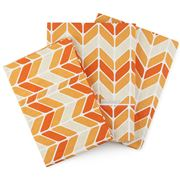 You & Boo - Chevron Orange Cotton Sheet Set 3pce