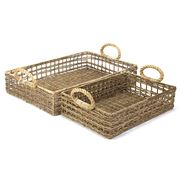 OneWorld - Rattan Tray Set 2pce