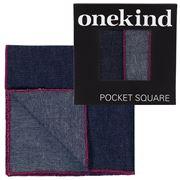 Onekind - Denim Cherry Pocket Square