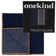 Onekind - Denim Orange Pocket Square