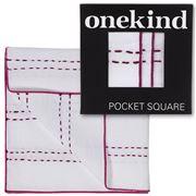 Onekind - Double Stitch Cherry Pocket Square