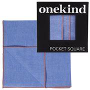 Onekind - Chambray Watermelon Stitch Pocket Square