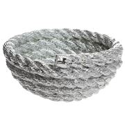 Areaware - Coiled Rope Chrome Bowl