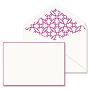 Crane & Co - Raspberry Hand Bordered Correspondence Cards