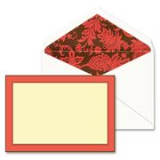 William Arthur - Elegant Hibiscus Border Flat Note Card Set