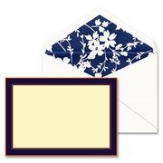 William Arthur - Elegant Navy Border Correspondence Card Set