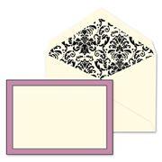 William Arthur - Elegant Amethyst Border Flat Note Cards