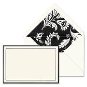 Vera Wang - Modern Graphic Midnight Correspondence Card Set