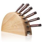 Del Ben - Arched Knife Block with Cocobolo Knife Set 6pce