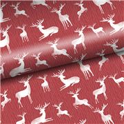 Vandoros - Reindeer Red Christmas Wrapping Paper 60cm x 3m