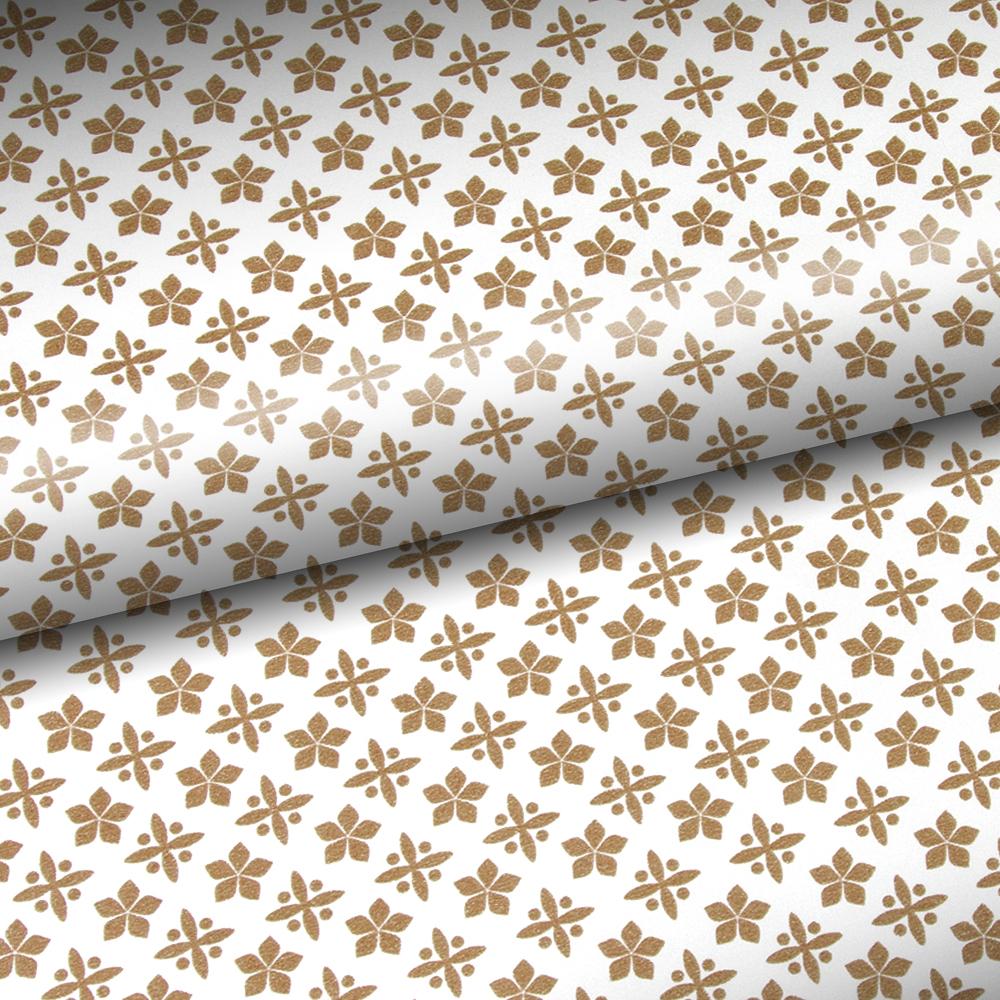 vandoros snowflake gold amp white wrapping paper