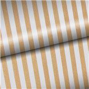 Vandoros - Gold & White Stripe Wrapping Paper