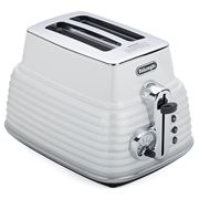 DeLonghi - Scultura White Two-Slice Toaster
