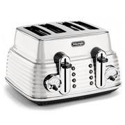 DeLonghi - Scultura White Four-Slice Toaster