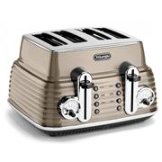 DeLonghi - Scultura Beige Four-Slice Toaster