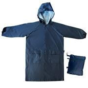 Envirotrend - SPLASHitToMe Small Navy Compact Raincoat