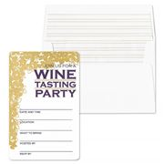 Gwyneth Paige - Helena Eggplant Wine Tasting Invitation Set