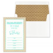 Gwyneth Paige - Carolina Aqua Peanut Invitation Set