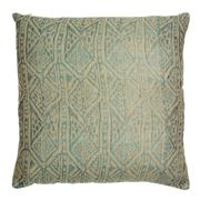Linen & Moore - Pyramid Turquoise Cushion