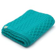 Otto & Spike - Brioche Teal Bassinet Blanket