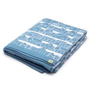 Otto & Spike - Neighbourhood  Cot Blanket Light Blue