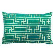 Florence Broadhurst - Yvans Geometric Topaz Cushion